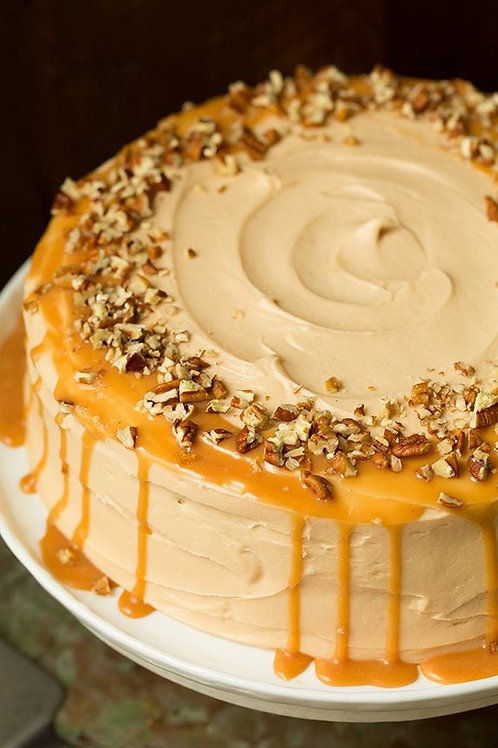 Salted Caramel Pumpkin Mini Cake