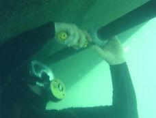 Zinc replacment Anode Hul bottom cleaning Newport Beach Dana Point harbor Diver .jpg