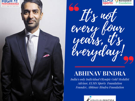 Message by India's only individual Olympic Gold Medalist, Abhinav Bindra!