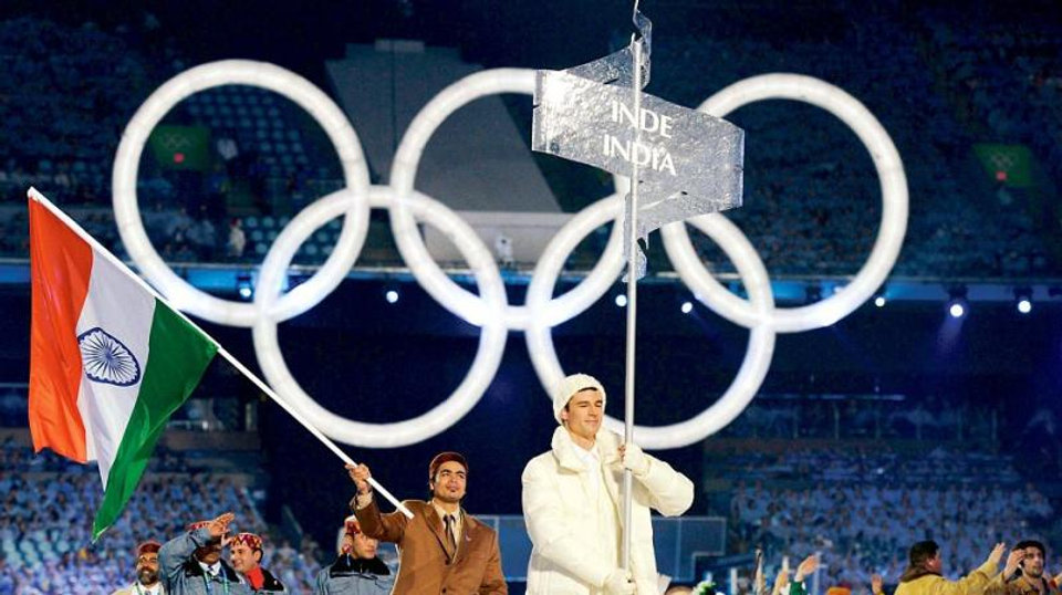 India Flag at Olympic