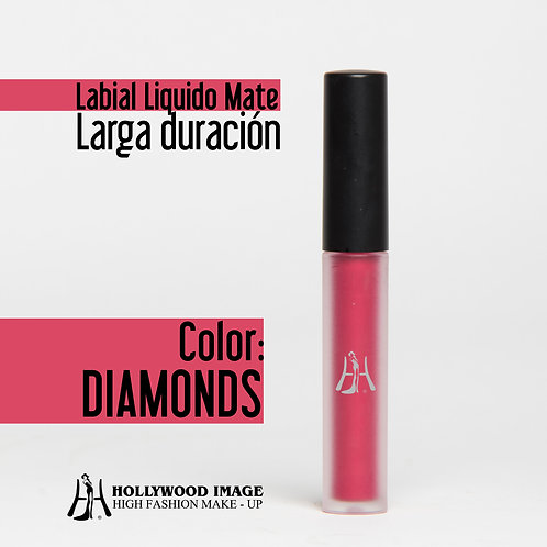 Labial Liquido-Larga duración DIAMONDS
