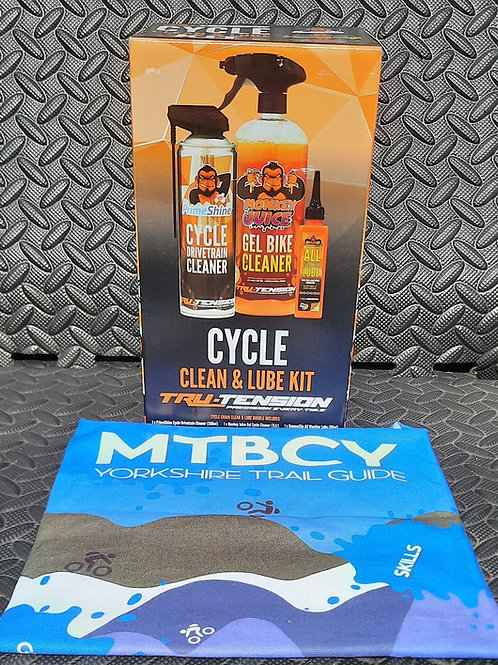 Cycle cleaning and lube kit plus bandana