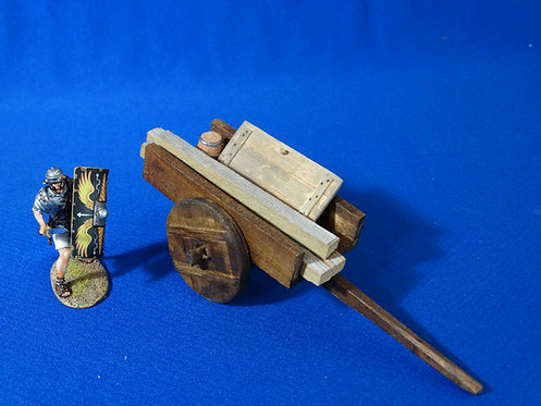 VD-012 - Wooden Cart with Lumber - Wood Construction - 60mm Scale - Volk