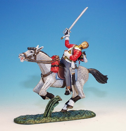 SGS.8. - Trooper Wounded Falling From Horse, Scots Greys