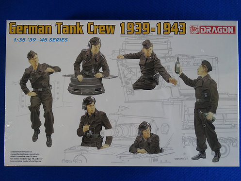 COJG-208 - German Tank Crew (1939-1943) - German WWII - Dragon 1/35 - Plastic Ki