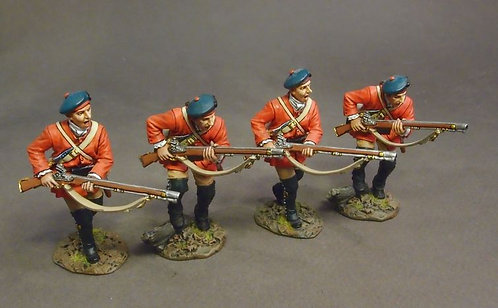 BRLX-06N - Light Infantry Company, 4 Figures Charging