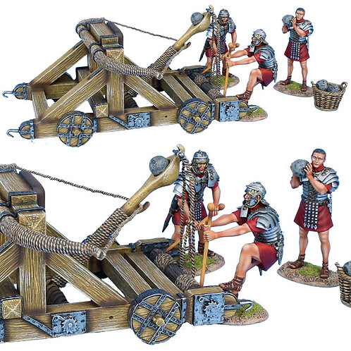 ROM180 - Roman Onager with 3 Crew - Red Tunics