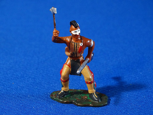 LM-307M - Mohawk Indian Leaning Back with Tomahawk and Musket - FIW - LeMans
