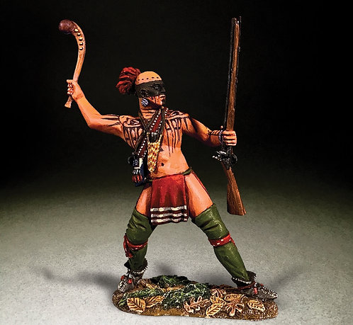 16087 - Native Warrior Attacking with War Club
