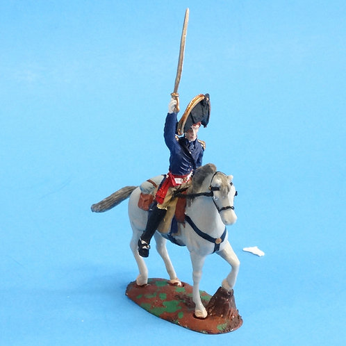 CORD-B0002 - US Officer - Mounted - War of 1812 - ATKM - 54mm Metal and Plastic