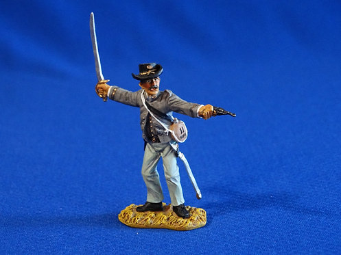 CORD-0979 - Confederate Officer - ACW - Britains - 60mm Metal - No Box