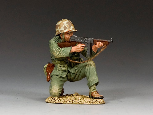 USMC022 - Kneeling Marine Tommy Gunner