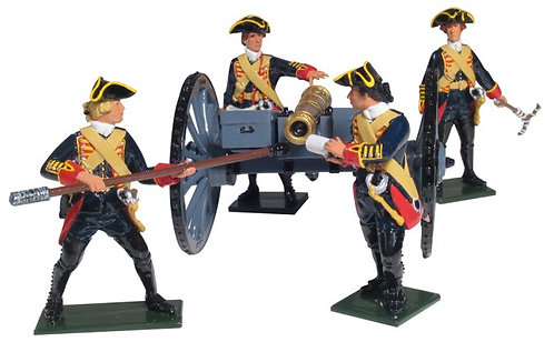 43144 - British Royal Artillery 6 Pound Gun and Four Man Crew