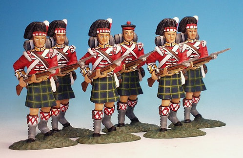 BNG.10 - Six Advancing (6 pcs), Gordon Highlanders