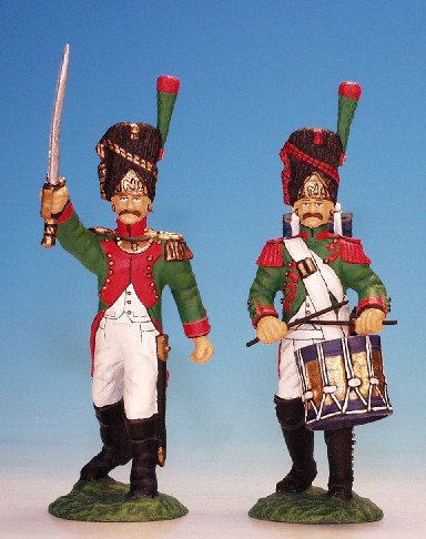 NIG.5-Italian Army - Infantry, Grenadiers of the Royal Guard -Officer and Drumme