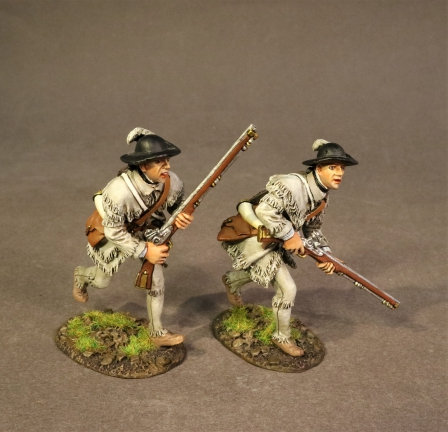 SMG-07A - 2 Riflemen Advancing, The Battle of Saratoga 1777, Morgan's Rifles