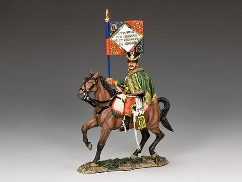 NA352 - Napoleonic 7th Hussar Guidon Bearer