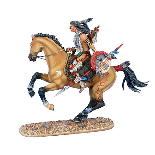 WW020  - Mounted Cheyenne Indian with Spear