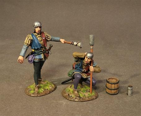 RYORKART-01 - 2 Artillery Crew Firing, The Battle of Bosworth Field 1485
