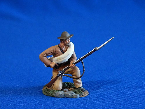 CORD-0972 - Confederate Kneeling Loading - ACW - Britains - 60mm Metal - No Box