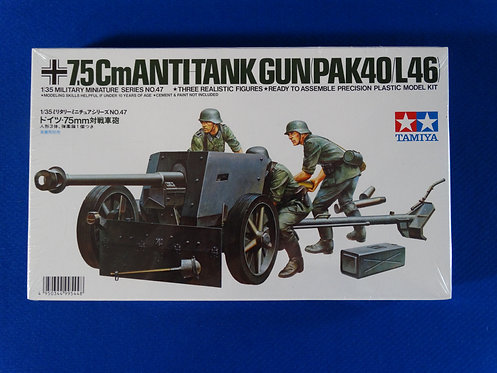 COJG-189 - German 7.5cm Anti-tank Gun PAK40 with Figures - WII - Tamiya 1/35