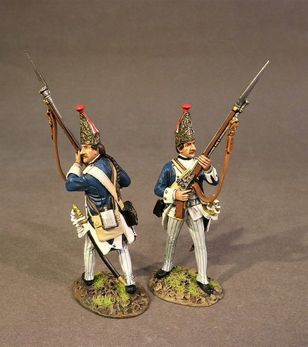 SVRH-07 - 2 Grenadiers,  Von Rhetz Regiment, the Battle of Saratoga