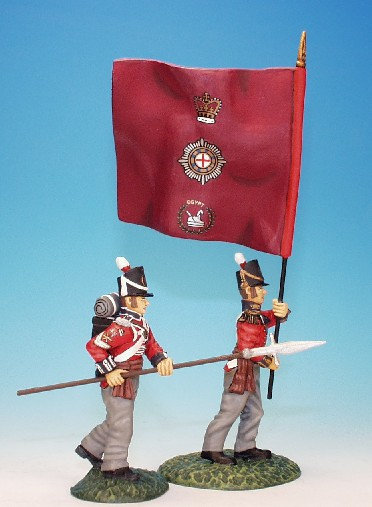 CGF.6. - Officer with Regimental Colour and N.C.O., Coldstream Guards