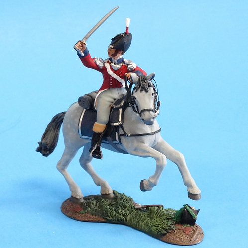 CORD-N1002 - British Officer - Mounted - Napoleonics - Converted Britains - 54mm