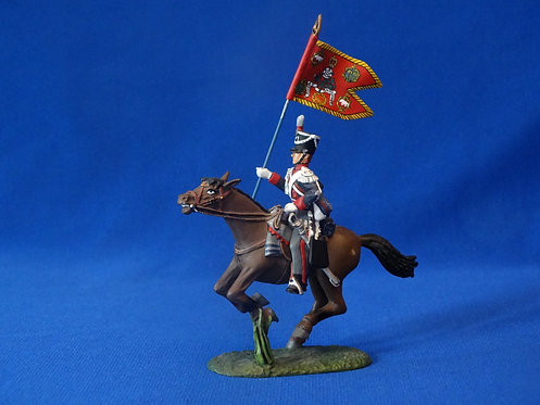 COAG-606 British Light Dragoon Flagbearer - Frontline - Napoleonic - 54mm Metal