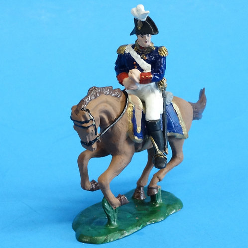 CORD-B0004 - US Officer - Mounted - War of 1812  - ATKM - 54mm Metal and Plastic