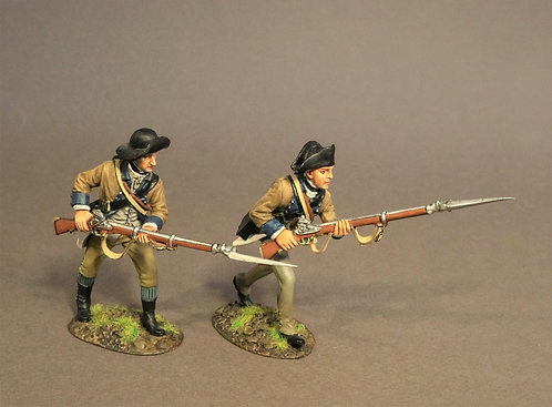 SNY-12 - 2 Infantry Advancing,  2nd New York Regiment, the Battle of Saratoga