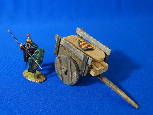 VD-013 - Medieval Wooden Cart - Wood Construction - 60mm Scale - Volk Designs