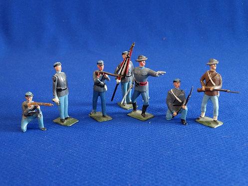 BR-001 - Confederate Infantry Set - ACW - Britains - 54mm Metal - No Box
