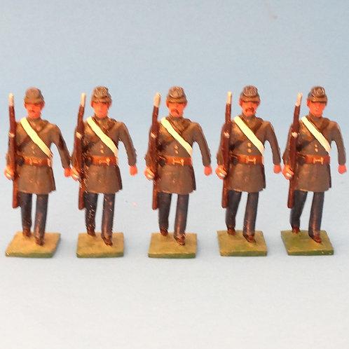#166  Confederate Marines Sergeant and Rifles  - ACW - Martin Ritchie - 5 Figure