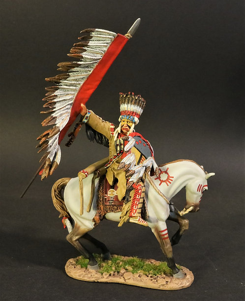 WSP-30 - Blackfoot Chief with Warflag