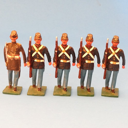#164 US Marines Drummer Boy and Rifles  - ACW - Martin Ritchie - 5 Figures