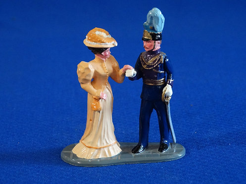 NR-110 - Officer and Lady - Trophy Set C34A - 54mm Metal - No Box