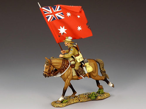 AL007A - Mounted Australian Flagbearer with Red Ensign