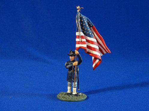 CORD-2145-20th Regiment Union Infantry Flagbearer - ACW - Britains - 54mm