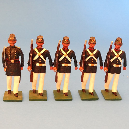 #162 US Marines Officer and Rifles - ACW - Martin Ritchie - 5 Figures