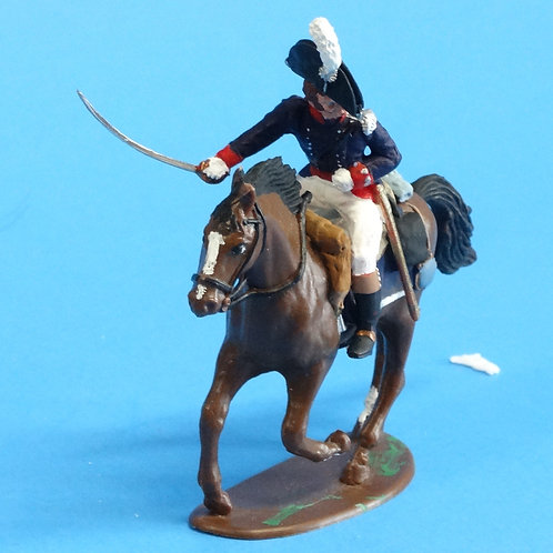 CORD-B0006 - US Officer - Mounted - War of 1812  - Unknown Manufacturer - 54mm