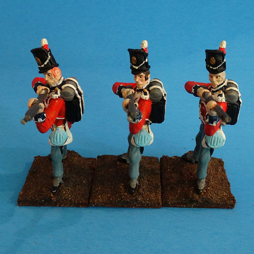 MI-548 - British Guard Standing Firing - Napoleonics (3 figs) -Li'l Army