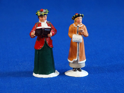 NR-124 - Mother and Daughter Carolers (2 Figures) - Trophy - 54mm Metal - No Box