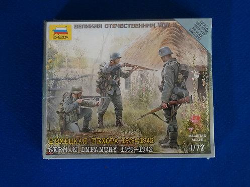 COJG-234 - German Infantry - WWII - Zveda 1/72 - Plastic Kit - 10 Figures