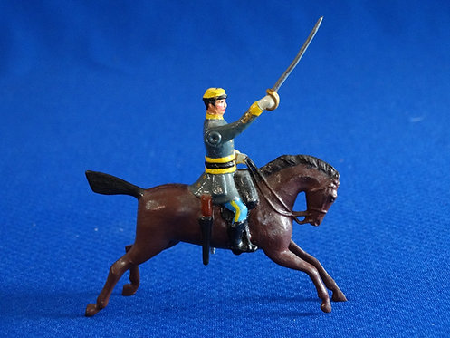 BR-007 - Confederate Cavalry Officer - ACW - Britains  - 54mm Metal - No Box