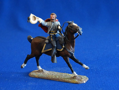 NR-076 - Confederate Officer, Mounted, ACW - Metal - Lasset