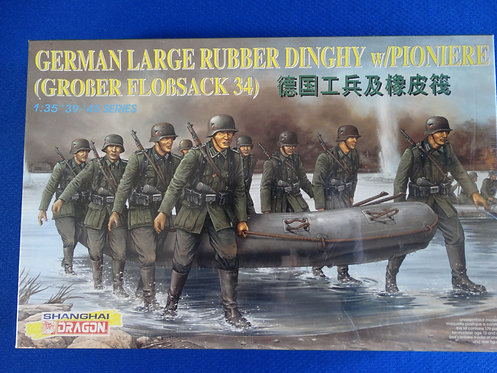 COJG-217 - German Large Rubber Dinghy with Pioneers - German WWII - Dragon 1/35