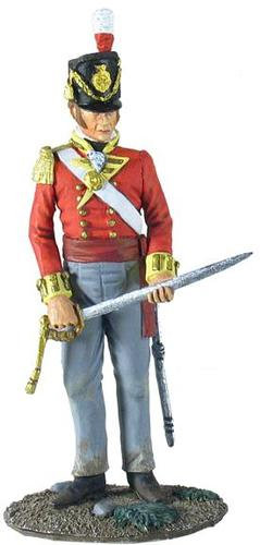 36096 - British 44th Foot Regiment Battalion Company Officer Standing with Sword