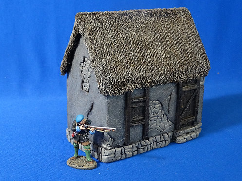 VD-032 - Small House - 60mm Scale - Foam Construction - Volk Designs
