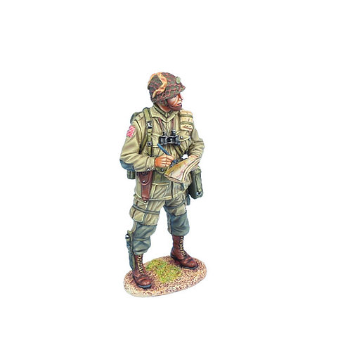 NOR066 - US 101st Airborne Lieutenant Making Notes on Map